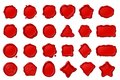 vector red wax seal stamps set Royalty Free Stock Photo