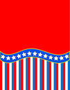 Vector Red White Blue Star Striped Background Royalty Free Stock Photo