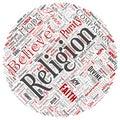 Vector religion, god, faith, spirituality round circle Royalty Free Stock Photo