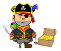 Vector representing kiki dress pirate parrot treasure Stock Image