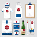 Vector restaurant cafe set flyer, menu, package, shirt, cap, uniform design