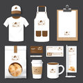 Vector restaurant cafe set flyer, menu, package, t-shirt, cap, u Royalty Free Stock Photo