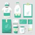 Vector restaurant cafe set flyer, menu, package, t-shirt, cap, u