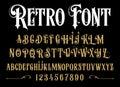 Vector retro alphabet. Vintage font.