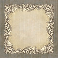 Vector retro border frame at grunge background Royalty Free Stock Photo