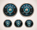 Vector retro car gauges Royalty Free Stock Image