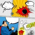 Vector Retro Comic Book Speech...