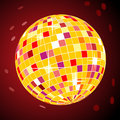 Vector retro disco ball Stock Photos