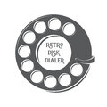 Vector retro disk dialer illustration Royalty Free Stock Images