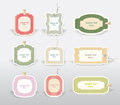 Vector retro labels illustration set Stock Photo