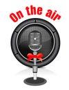 Vector retro microphone Royalty Free Stock Photo