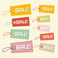 Vector retro paper sale tags labels Royalty Free Stock Photography