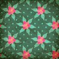 Vector retro seamless pattern with flowers Stock Images