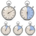 Vector retro stopwatch set on white background Stock Photo