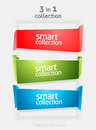 Vector Ribbon and Banner Collection with place for Your Text. Color Bookmarks. Infographycs Royalty Free Stock Photo