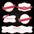 Vector ribbons and labels set of Royalty Free Stock Photo