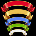 Vector Ribbons set 7 Royalty Free Stock Images