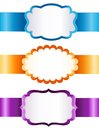 Vector ribbons a set of colorful with white labels on a white background Royalty Free Stock Photography