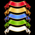 Vector Ribbons Set Isolated On...