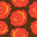 Vector rose on an abstract background illustration of a seamless wallpaper Stock Images