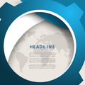 Vector round blue world map elements frame corporate business background Royalty Free Stock Photo