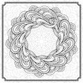 Vector round floral frame