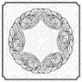 Vector round floral frame