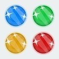 Vector round gems Royalty Free Stock Photo