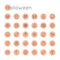 Vector Round Halloween Icons