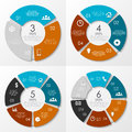 Vector round infographics. Template for circle diagram.