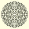 Vector round ornament illustration with vintage pattern for print embroidery Stock Photo