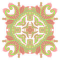 Vector round ornament illustration with vintage pattern for print embroidery Royalty Free Stock Photos
