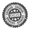 Vector round stamp licensed illustration Royalty Free Stock Photography
