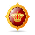 Vector royal emblem isolated on white Stock Photo