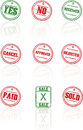 Vector rubber stamps on white background Royalty Free Stock Photo