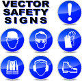 Vector safety signs Royalty Free Stock Photo