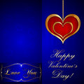 Vector saint valentine greeting card with hearts Royalty Free Stock Images