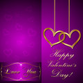 Vector saint valentine greeting card with hearts Stock Photos