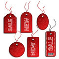 Vector sale Christmas tags Royalty Free Stock Photo