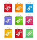 Vector sale labels like shopping bag Royalty Free Stock Photo