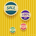 Vector sale labels set of Stock Photos