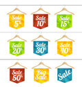 Vector sale labels set Royalty Free Stock Photo