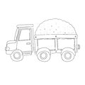 Vector sand truck for coloring book Royalty Free Stock Photo