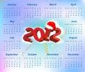 Vector Santa calendar 2012 year Royalty Free Stock Photography