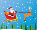 Vector santa claus and red nosed reindeer Royalty Free Stock Photography