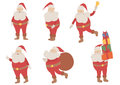 Vector Santa Claus set Stock Images