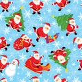 Vector santa seamless Stock Images