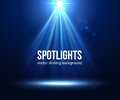 Vector scene illuminated spotlight. Dark spotlight Royalty Free Stock Photo