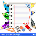 Vector school background image illustration of notebook Royalty Free Stock Photos
