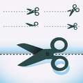 Vector scissors icons set of design elements Royalty Free Stock Photos